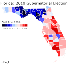 Map Of Florida By County by Analyzing The 2010 Midterm Elections U2013 The Florida Gubernatorial