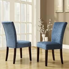 oxford creek rachel royal blue chenille parson chairs set of 2