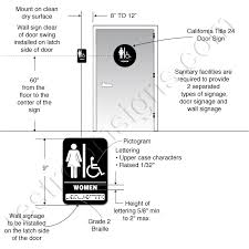 Ada Bathroom Requirements by Ada Urinal Height Google Search Ada Pinterest Signage