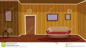 retro living room yellow stock vector image 66480117