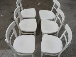 White Bistro Chair Vintage White Bistro Chairs Set Of 6 For Sale At Pamono