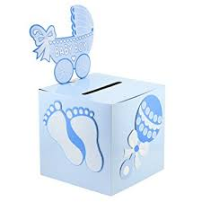 care baby shower deco4fun blue boy baby shower card box money gift