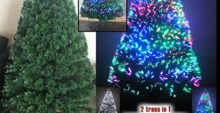 fiber optic trees artificial trees prelit