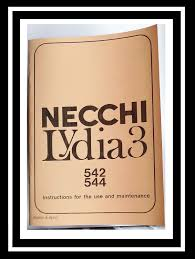 necchi lydia 3 model 542 u0026 544 sewing machine instruction manual