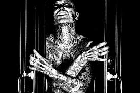 rick genest scary tattoos coloring pages for adults justcolor