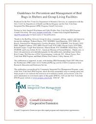 Living With Bed Bugs Bed Bug Guidelines For Shelters And Group Living Facilities