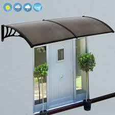 Clear Awnings For Home Amazon Com Vivohome Polycarbonate Window Door Awning Brown 80
