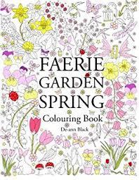 spring garden colouring book amazon uk ann black