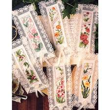 Flowers Of The Month Flower Of The Month Cross Stitch Bookmark Epattern Leisurearts Com