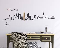 28 new york city wall sticker new york city text wall new york city wall sticker new york city skyline wall decal by zapoart on etsy
