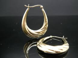 oval hoop earrings oval hoop earrings scalloped sterling silver gold overlay