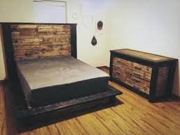 Pallet Platform Bed Diy Wood Pallet Bed With Headboard 101 Pallets