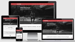 responsive design template neu free web designer profile responsive web template