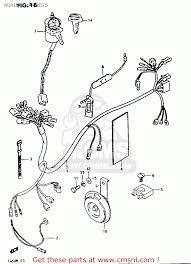 suzuki fa50 1985 f wiring harness schematic partsfiche