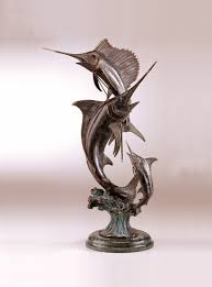 Home Sculptures Grand Slam Marlin U0026 Sailfish Sculpture By Spi Home 583 You Save