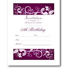 50th birthday invitations free printable party invitations