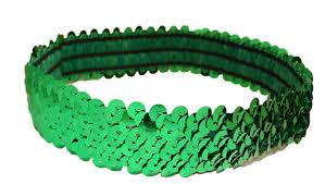 green headband sequin stretch headbands 1 stretch sequin headband sparkly