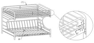 Black Metal Futon Bunk Bed Black Metal Futon Bunk Bed Assembly Instructions Bm Furnititure