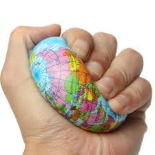 Earth Globe Map World by Earth Globe Planet World Map Foam Stress Relief Bouncy Press Ball