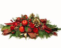 Christmas Centerpiece Images - christmas centerpiece of apples and berries by avante gardens florist