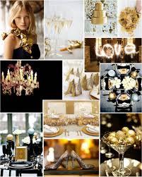 Black Gold Wedding Decorations Beautiful Wedding Theme Ideas In Metallic Theme U2013 Interior