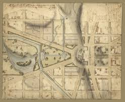 Maps Washington Dc by 1815 Map Of The Capitol And Its Surroundings Ghosts Of Dc