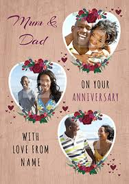 anniversary cards for anniversary cards for parents funky pigeon