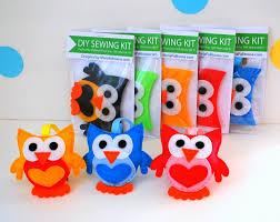 owl sewing kit felt hand sewing kit with precut felt craft felt