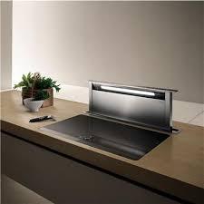hotte de cuisine elica hotte îlot cuisine etoile verre blanc prf0098000