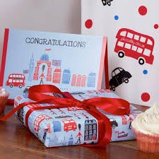 christmas wrapping paper sets london theme congratulations card gift wrap set piccalilly