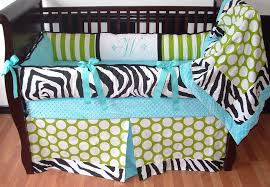 Zebra Print Baby Bedding Crib Sets Baby Crib Bedding Set With Green Apple Polka Dots And Stripes