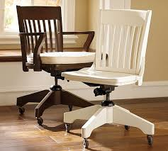 dining room impressive white wood desk chair with wheels
