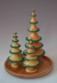 woodturning tree decorations rainforest islands ferry