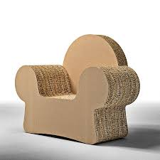 design armchair made of cardboard with armrests idfdesign