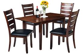 dining room table with butterfly leaf hill modern 5 piece set