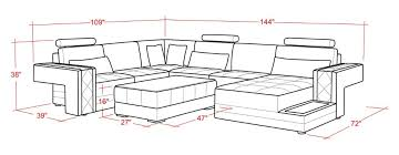 Couch Size 2016 Rushed Sectional Sofa Design U Shape Sofa 7 Seater Lounge