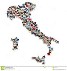 World Map Italy by Collage Of World Map Made Of Travel Photos Royalty Free Stock
