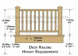 Building Code Handrail Height Deck Railing Height Diagrams U0026 Code Tips