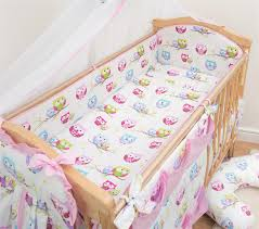 5 Piece Nursery Furniture Set by 5 Piece Baby Bedding Set Nursery Cot Cot Bed Long All Round Padded