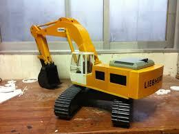 excavator model replica plans