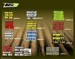 motocross helmet decals rusk racing custom motocross graphics and decals thick stickers
