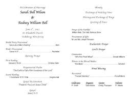 christian wedding program catholic diy wedding