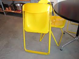 Lucite Folding Chairs Metro Modern Italian Metal U0026 Lucite Yellow Chairs