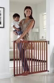 Munchkin Baby Gate Banister Adapter Amazon Com Munchkin Extending Wood Wide Baby Gate Dark Wood Baby