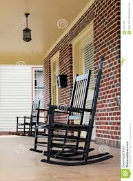 Chairs For Front Porch Rocking Chairs On Front Porch In North Carolina Royalty Free Stock