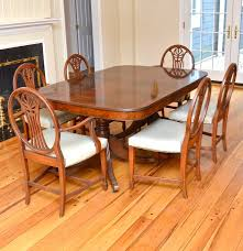 Antique Mahogany Dining Room Furniture by Vintage Mahogany Dining Table And Six Chairs Circa 1820s Ebth