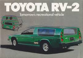 toyota motorhome starling travel the 1972 toyota rv 2 a concept rv that never
