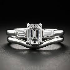emerald cut wedding set co 1 07 carat emerald cut diamond wedding set
