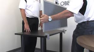 How To Build Reception Desk by Obex Desk Mounted Privacy Panels How To Install To Standard Desk