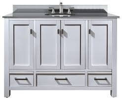 gorgeous 48 inch bathroom vanity with granite top white furniture